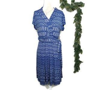 Liz Claiborne Blue/White Wrap Career Dress New M